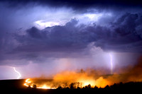Lightning, storms, prairie burns